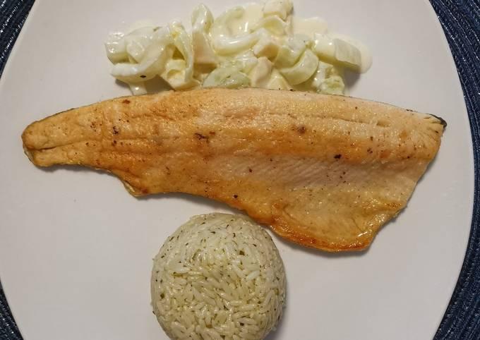 Fischfilet auf Fenchel-Quitten Rahmgemüse