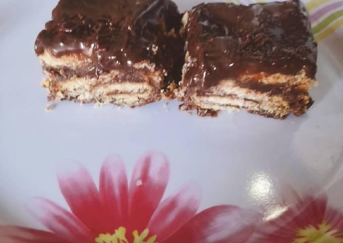 Resep Kek batik leleh Anti Gagal