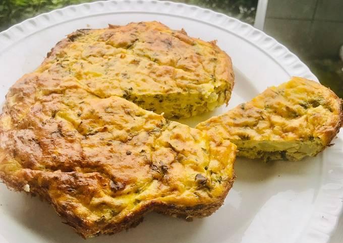 Omelette aux thon et pomme de terre