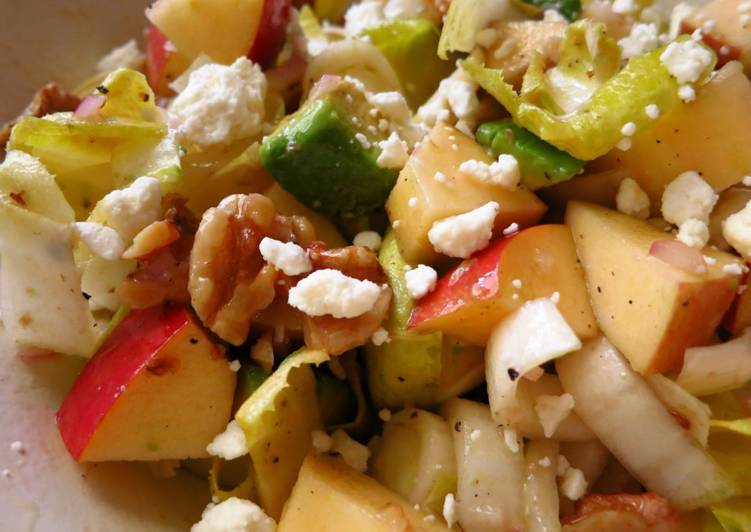 Endive, Apple, Avocado & Walnut Salad With Feta