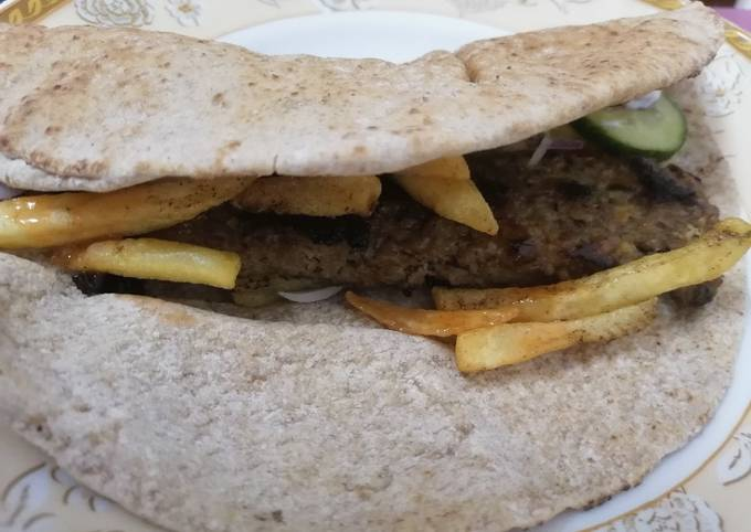 Leftover kabab wrap