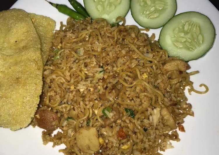 Nasi Goreng Magelangan (Nasi Mawut)