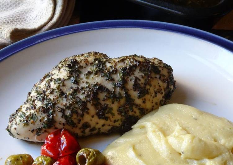 Italian Chicken with Creamy Polenta