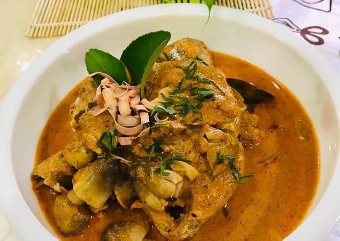 Rendang Pedas Ikan Tongkol + Cendawan Sawit (MaratonRaya-#Ikan)