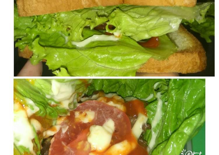 Sandwich sederhana memanfaatkan roti tawar sisa