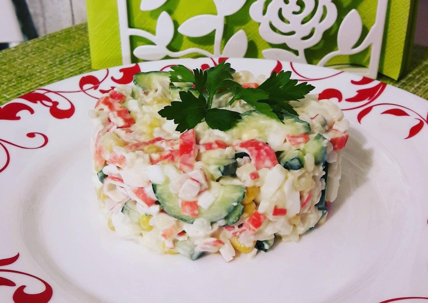 фото рецепт салатов из крабовых палочек с фото ковровых покрытий