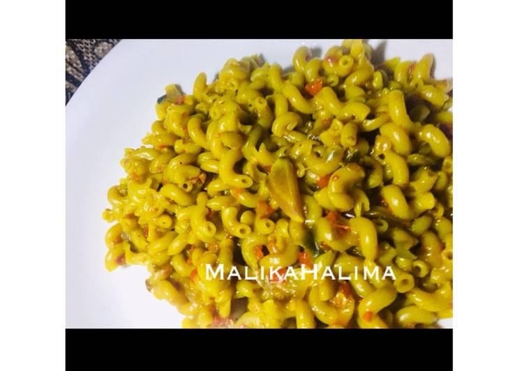 Simple Way to Make Favorite Golden Macaroni