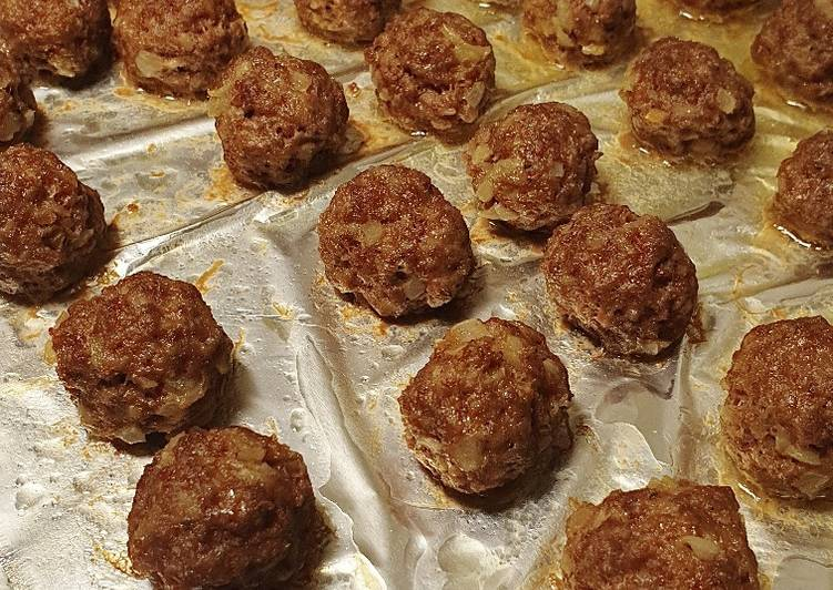 Recipe of Top-Rated Honey mustard meatballs