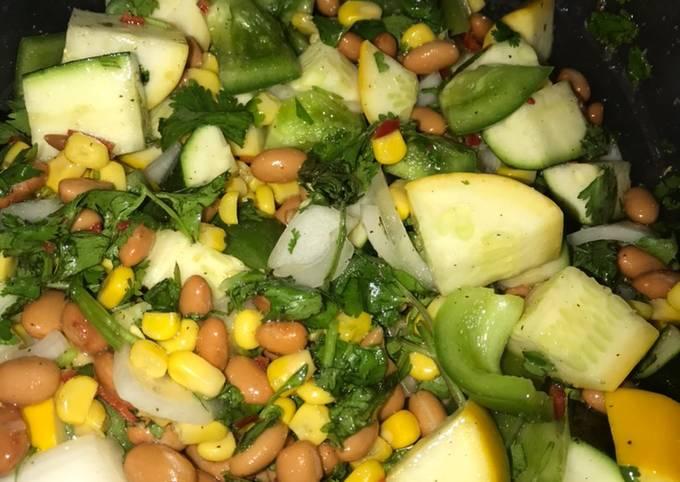 How to Make Appetizing Bean, corn, pepper salad