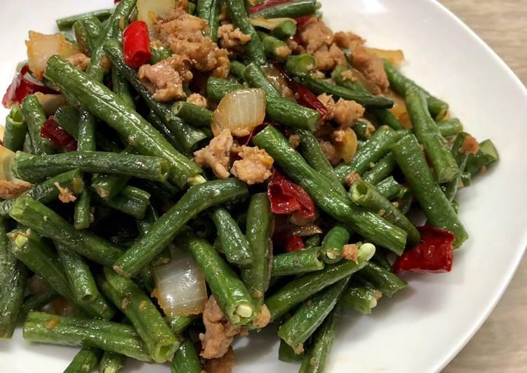 Resep Kacang panjang tumis daging rumahan