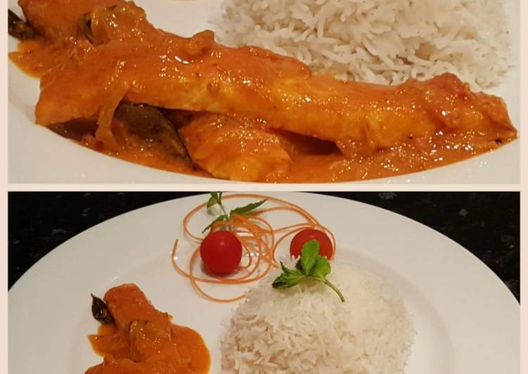 THAI SALMON FISH CURRY.. with Coconut Rice Finding Nutritious Fast Food