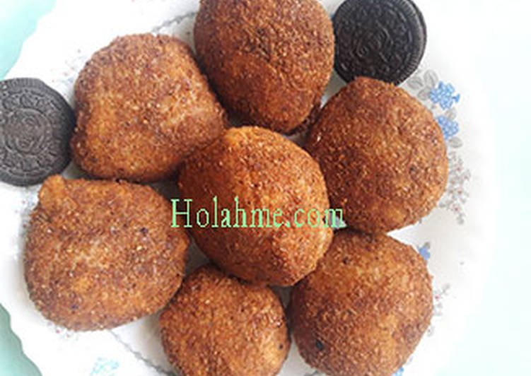Cardamon deep fried oreo balls.#snacksrecipescontest
