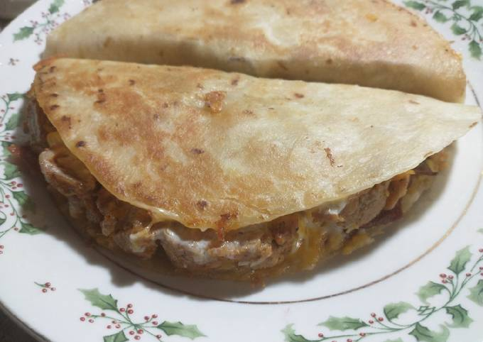 Fried Fajita Chicken and Bacon Quesadillas
