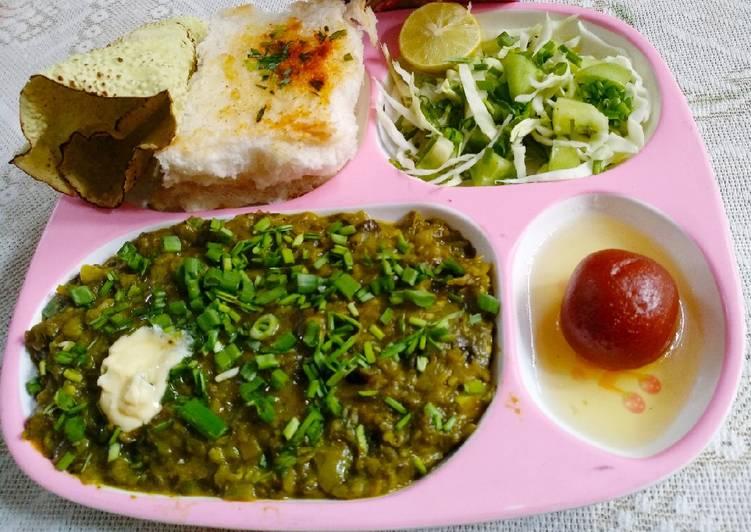 Recipe of Quick Hariyali Pavbhaji
