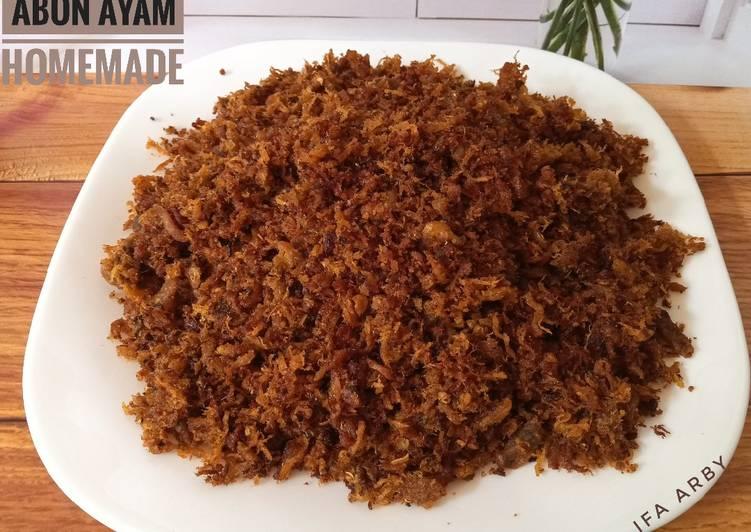 Abon Ayam Homemade stok lauk di bulan Ramadhan