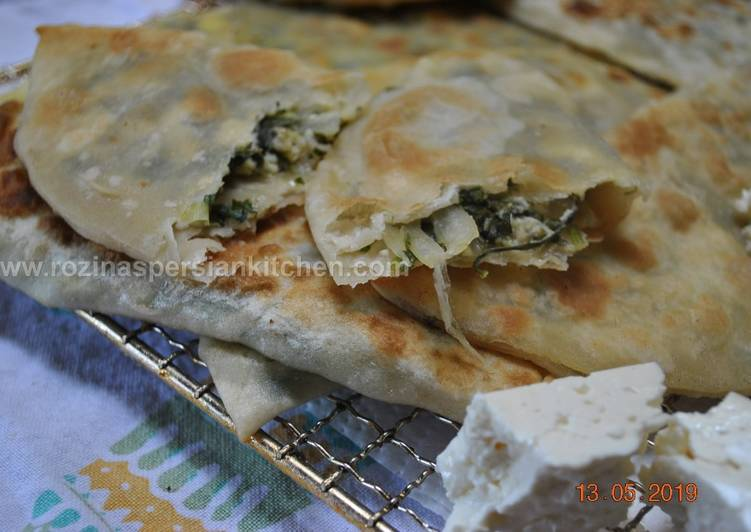 Recipe of Ultimate Stuffed Flat Naan Bread (Kelane/Bolani)نان کلانه