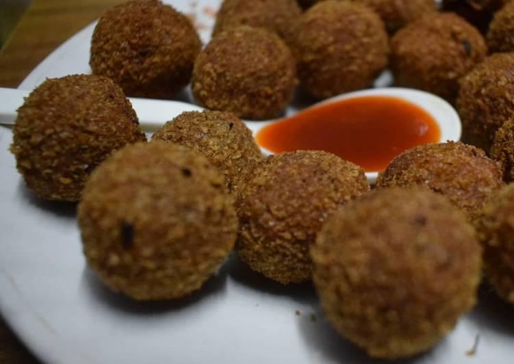 25 Minute Simple Way to Prepare Favorite Raj pops / Rajma Balls