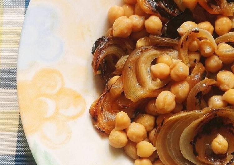 Ricetta Insalata di ceci e cipolle grigliate