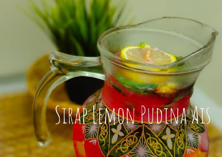 Sirap Lemon Pudina Ais - resepipouler.com