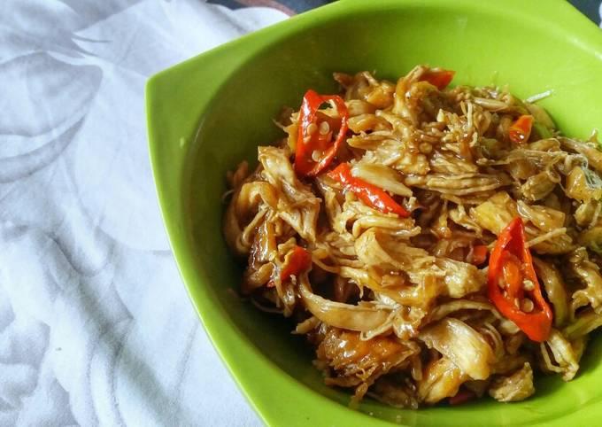 Ayam Suwir Saus Tiram / Shredded Chicken in Oyster Sauce