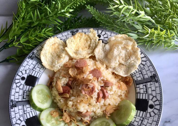 daftar menu Nasi Goreng Sosis Simple