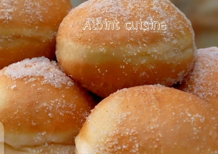 Simple Way to Make Ultimate Cinnamon sugar coated round doghnuts (ring doughnut)