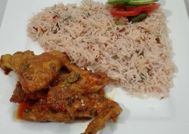 How to Make Favorite Hot And Spicy Chicken Wings with Masala Rice