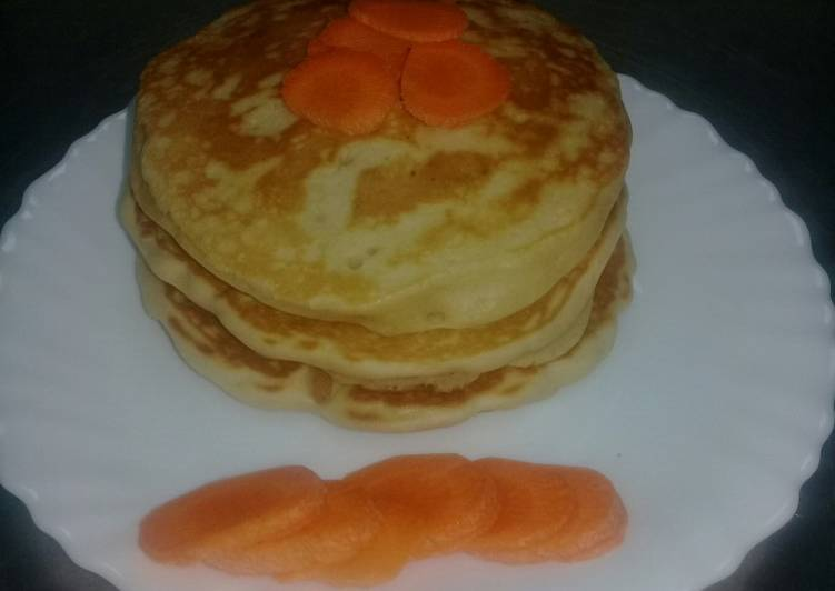 Carrot flavoured American/Fluffy pancakes. #Authormarathon