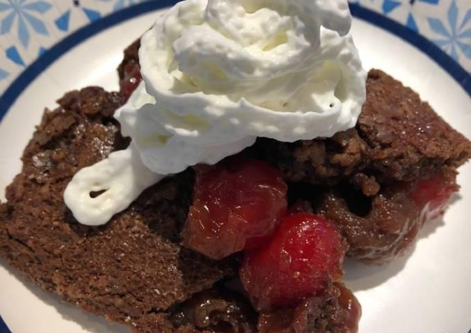Cherry 🍒 Vanilla Coke Spiced Rum Brownie Cake