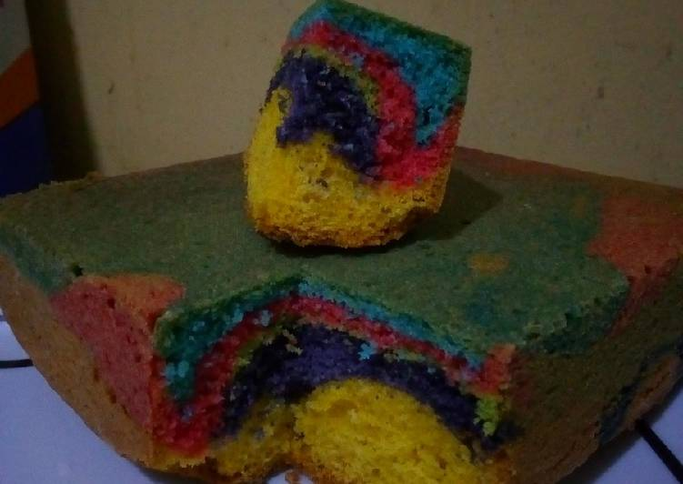 Multicoloured marble cake. #FestiveContestNaivasha