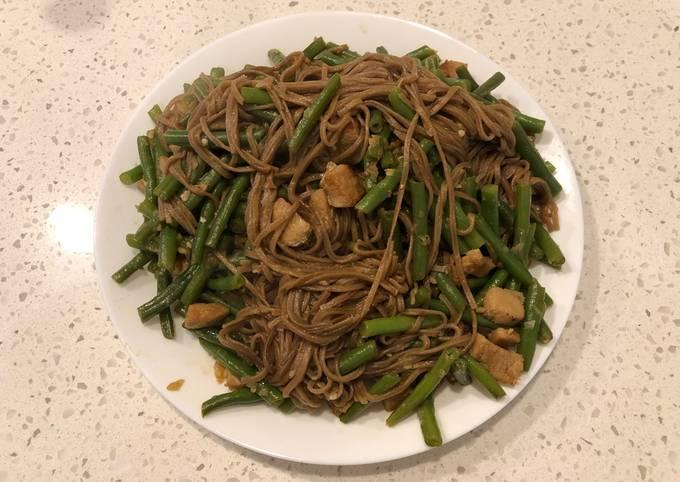 Pork Green Bean Braised Soba Noodles