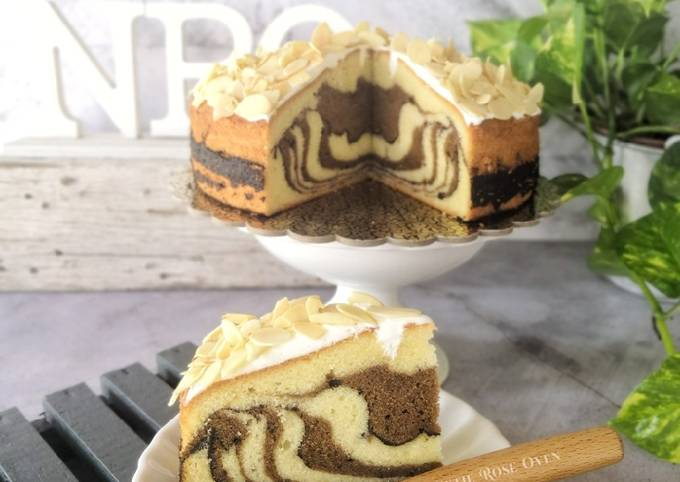 Almond Butter Marble Cake