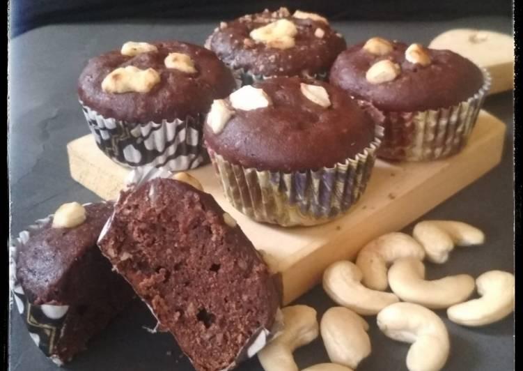 Muffin Coklat Kacang Mede