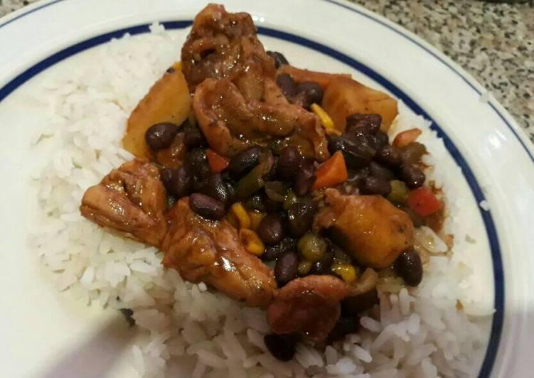 Steps to Prepare Super Quick Homemade Black bean chicken marsala