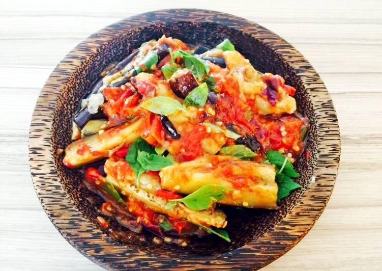 Balado terong - Aubergine with chili sauce