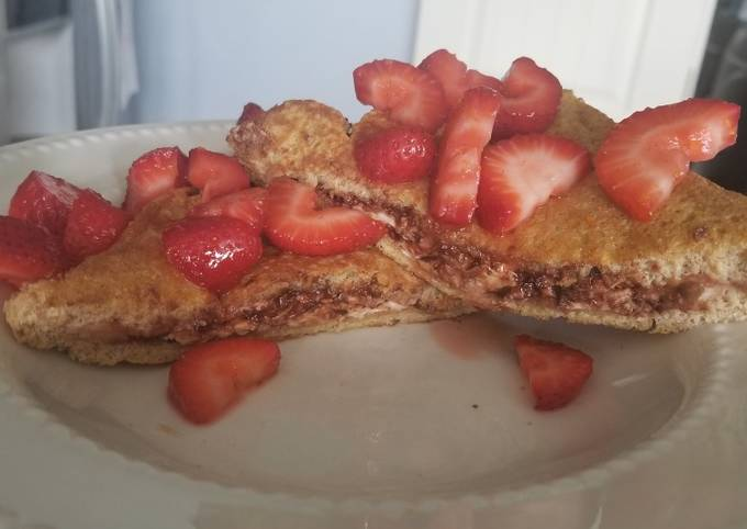 Easiest Way to Prepare Perfect Chocolate-stuffed french toast low calorie!