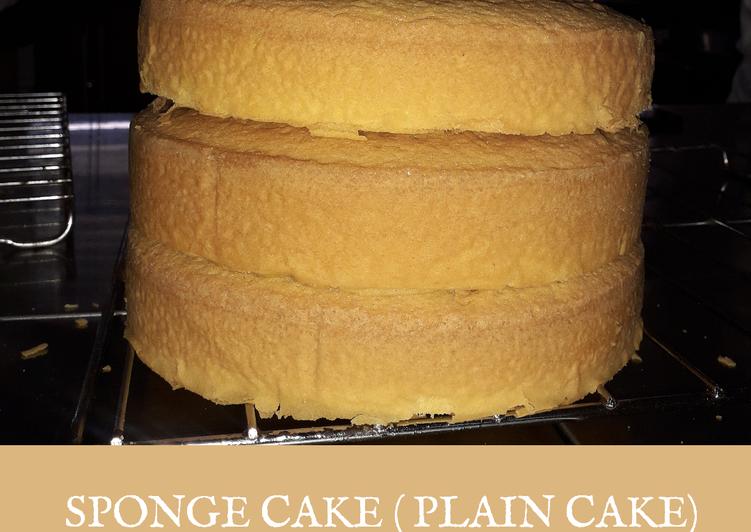 Resep: Berselera Sponge Cake (base Cake Ultah)