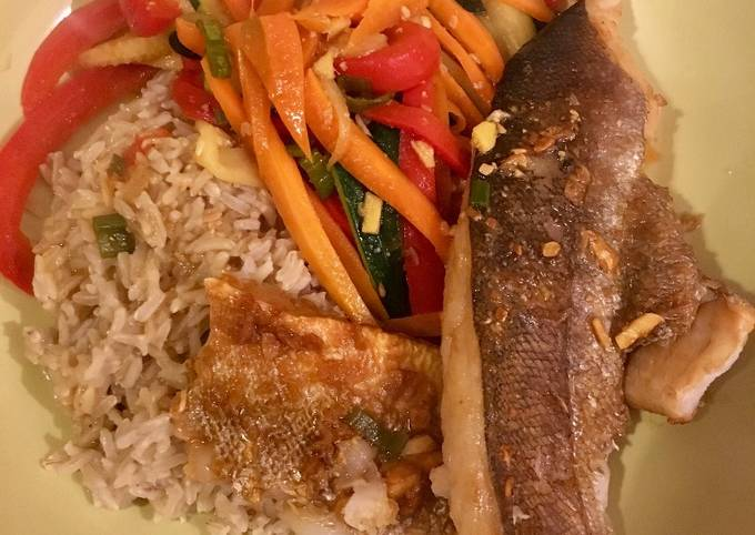 Miso and Ginger Glazed Whiting