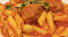 Hình ảnh món Cuối tuần đơn giản với món :Nui sốt cà chua,thịt bò băm vo viên