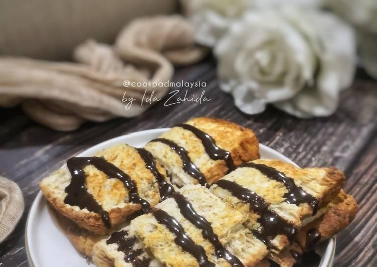 Resepi:  Roti Pisang Coklat  Termudah