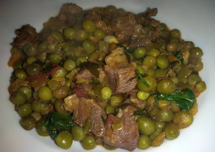 Dinner Ideas Spicy hot Peas mixed with beef#seasonal ingredients