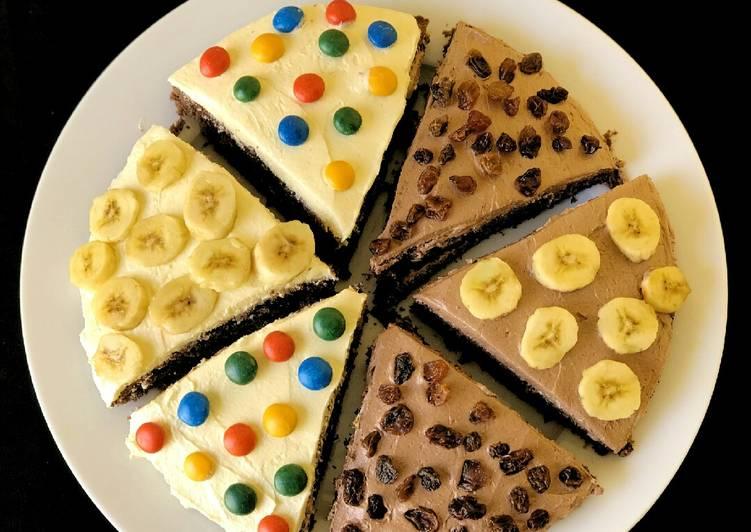 Chocolate cake pizza