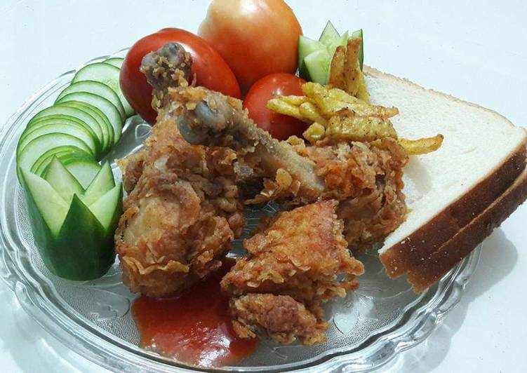 Steps to Make Ultimate Crispy fried chicken