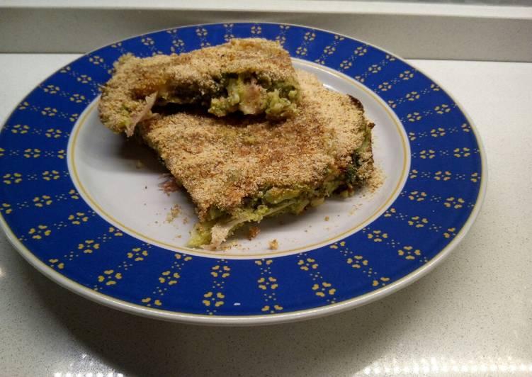Ricetta Mattonella di broccoletti con prosciutto e mozzarella al forno