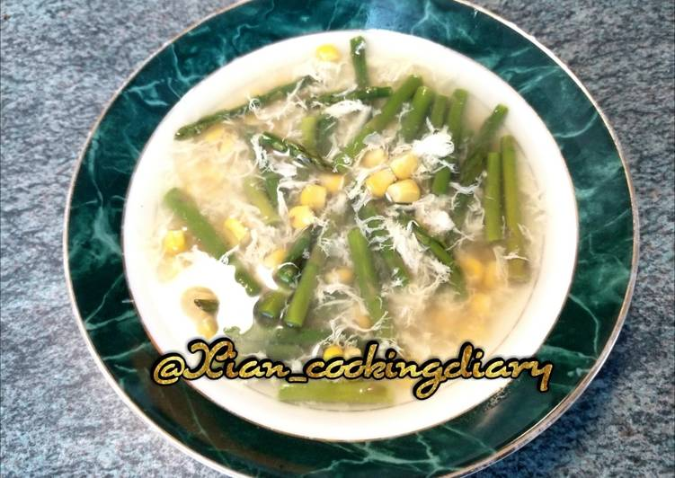 Sup Jagung Asparagus #makanansehat
