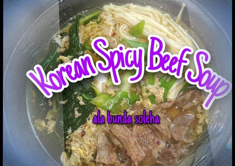 Sup Sapi Pedas ala Korea