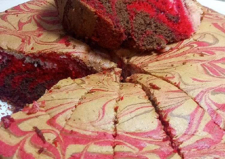 Cake marbre