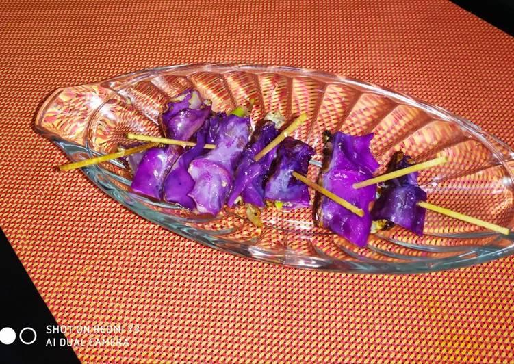 Recipe: Delicious Purple cabbage tiny rolls