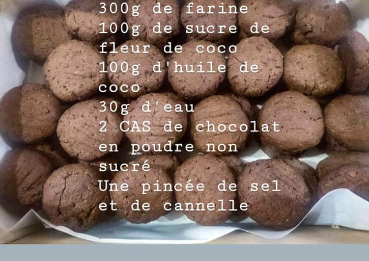 Sablés vegan choco-coco