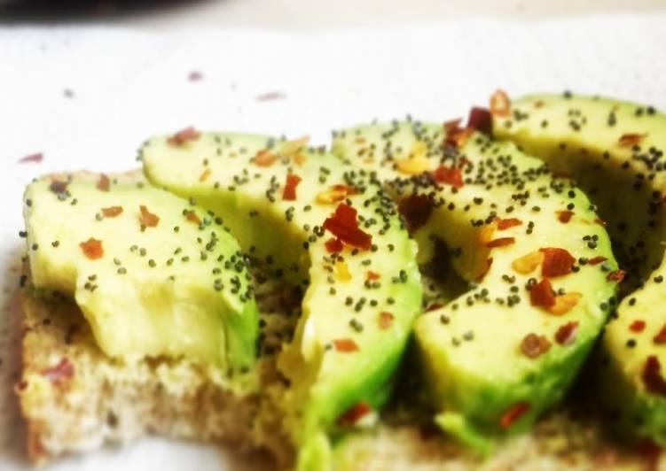 Avocado toast with poppy seeds